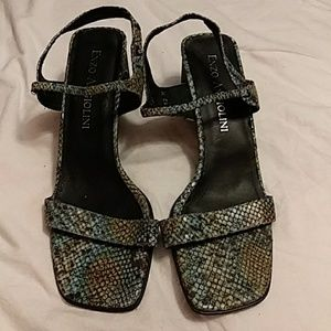 Enzo angiolini strap back sandals